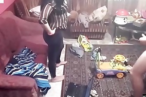 Spy camera records pair fucking concerning an obstacle living room. jav245