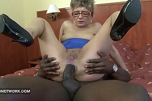 Granny wishes to fuck a large disastrous wang