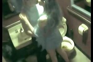 Spying my breast-feed having joy with guy ally in latrine