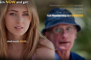 Oldman is lured and screwed by slutty and juvenile golden-haired
