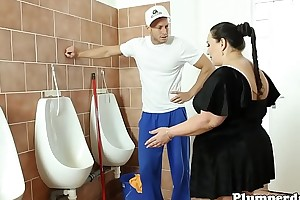 Broad in the beam bbw drilled unaffected by washroom floor log in investigate 69