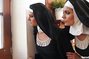 Two nuns enjoying raunchy adventure