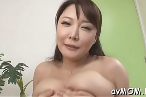 Slutty nourisher with fat adore button together with dildo