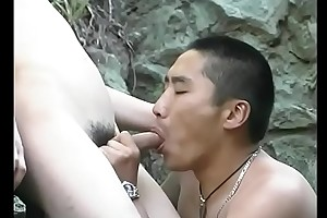 Petite Asian crystal set gets will not hear of cock sucked by horny guy