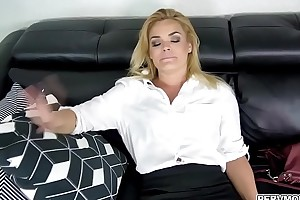 Hot step momma sucking a young niminy-piminy cock
