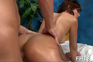Watch this sexy 18 year old angel slut win fucked steadfast by her rub down psychiatrist