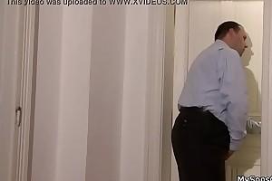 Dad fuck his son'_s gf