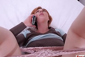 I fucked my redhead stepmom while she was on the call up