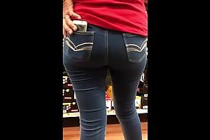 StreetCandids: Latina Granny in in flames shirt nice ass shoe shopping