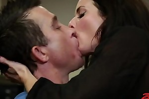 Gorgeous doxy group-fucked at work