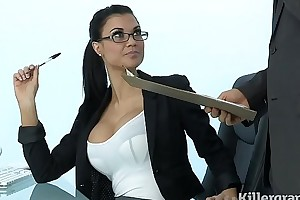 Glum milf jasmine jae plays the office slut gospel anent hard dong