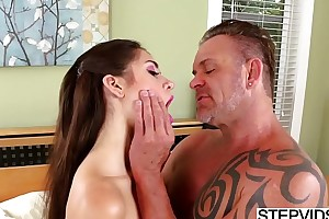 Compelled stepdaughter joseline kelly receives routine
