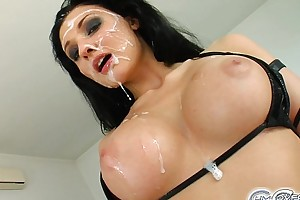 Aletta ocean five person bukkake jizz flow fuckfest