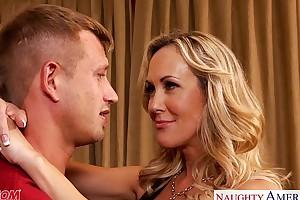 Domineer golden-haired mamma brandi exalt engulf and enjoyment from schlong