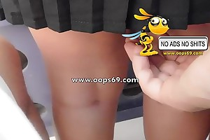 Upskirt together with groping / fagged groping vids