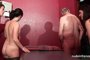 Young french babes gangbanged plus sodomized in 4some approximately papy voyeur