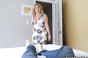 Big gut stepmom bails son on every side screw will not hear of