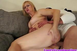 Spex granny anally drilled hard