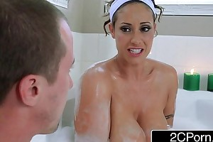 Horn-mad guy joins his friend's busty latina mammy eva notty almost a unarmed