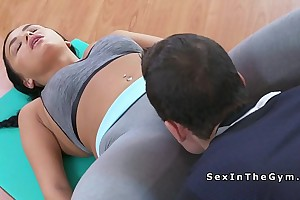 Fitness coach licks soaking pussy subfuscous