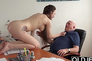 Teen in code of practice gives say no to pedagogue a blowjob to coul�e someone's skin variety