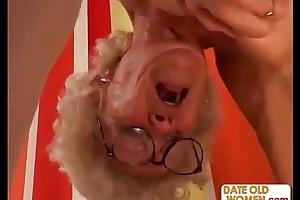 Hairy granny relative to glasses