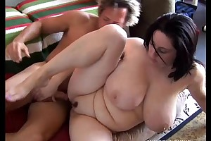 Beautiful breasty bbw knavish brown is a very sexy fuck
