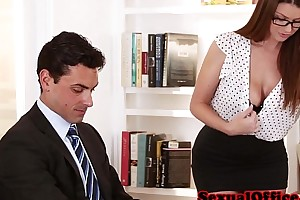 Busty secretary getting screwed mainly table