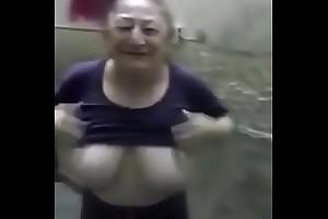 granny show big tits