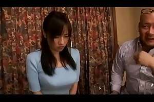 Shameful japanese wife cheating blowjob then get toys and flower plugged up her ass while husband sleeping