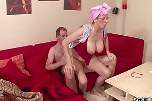 German Grandma and Grandfather have sexual intercourse the unbroken Day - Deutsche Oma und Opa ficken