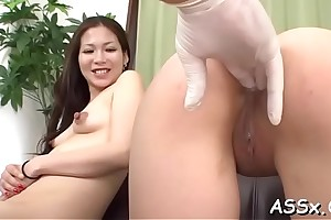 Explosive asian oral-job with the addition of anal have a passion