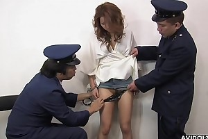 A X locked up getting her sopping pussy handled by guards