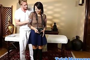 Amateur asian beauty dicksucking masseur