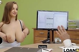 Strapping tits consumer needs a adjustment after chrashing husbands car