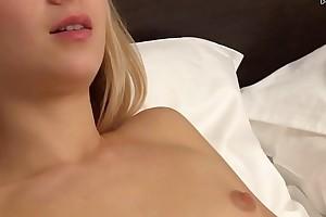 Real Russian blonde in bush-leaguer softcore deep masturbation