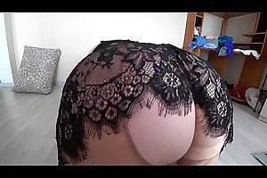 Girlfriend fuck busty blonde, mature bbw doggystyle shakes a big booty in pantyhose.