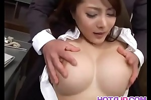 Mei sawai with extended whoppers is drilled in beaver