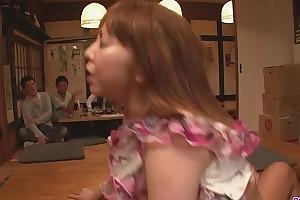 Minami kitagawa foursome ends in an oriental cum facial