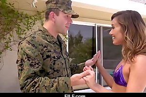 Asian stepmom christy love gives her soldier stepson a warm welcome home newcomer disabuse of a catch military