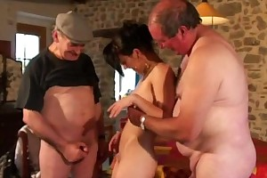 Our voyeur papys 1st 3some